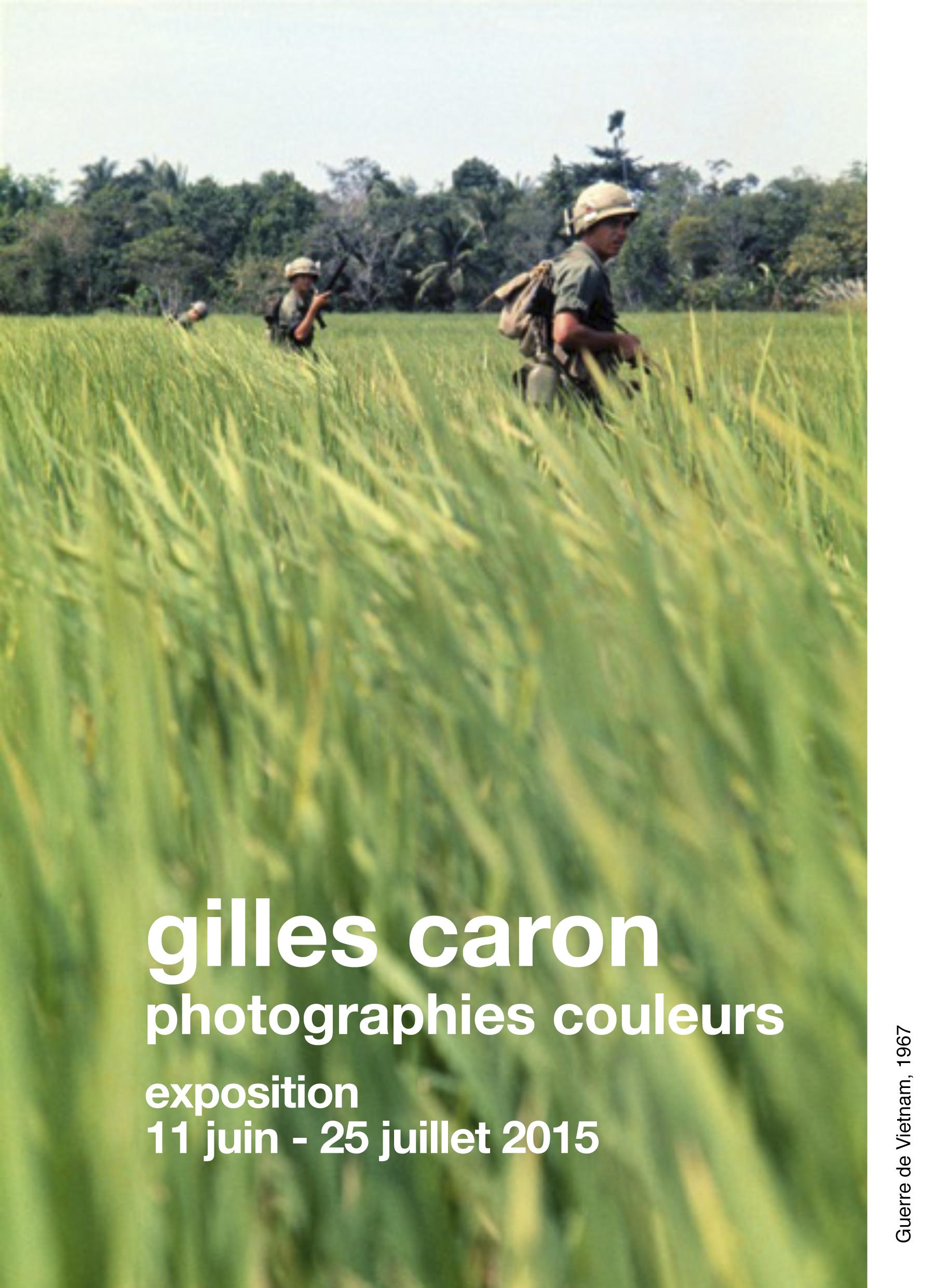 Gilles Caron dossier de presse resseré