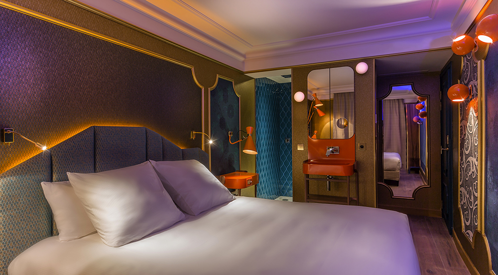 CHAMBRE MOON BLUE 1 - IDOL HOTEL - PARIS 8