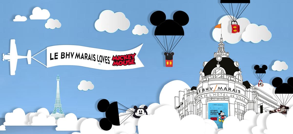 LE BHV MARAIS LOVES MICKEY MOUSE - VITRINE (2)