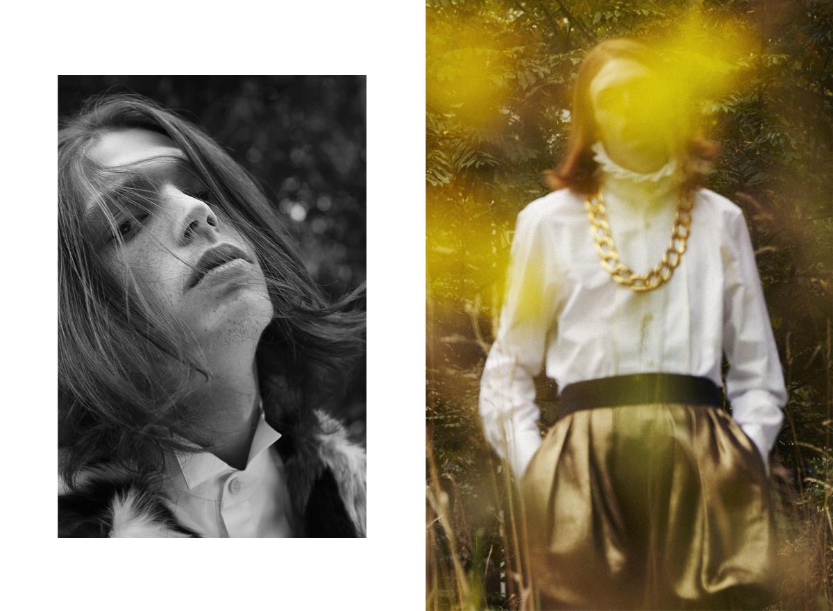 sylvain la rosa photography laurent desgrange styliste top shop sweatshirt lorenzo pioli bananas male model fashion editorial sinequanone john galiano collerette
