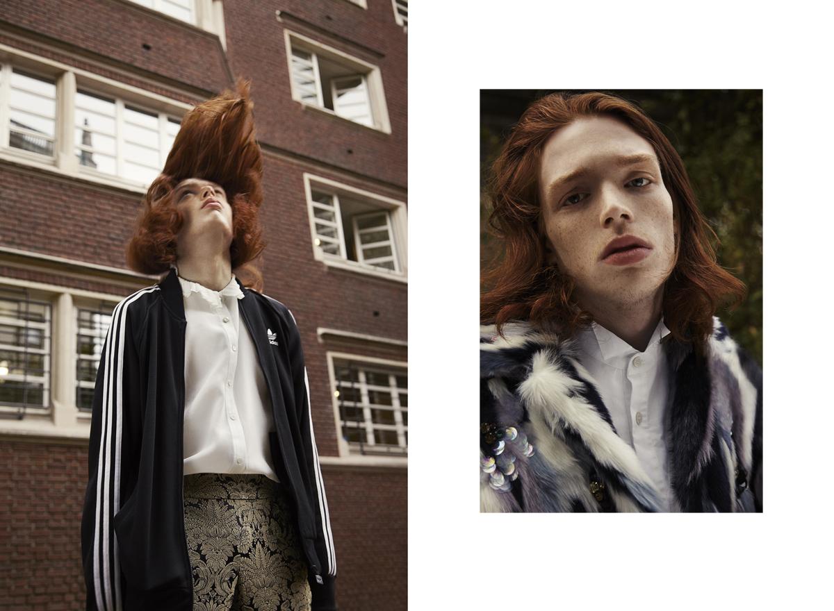 sylvain la rosa photography laurent desgrange styliste top shop sweatshirt lorenzo pioli bananas male model fashion editorial