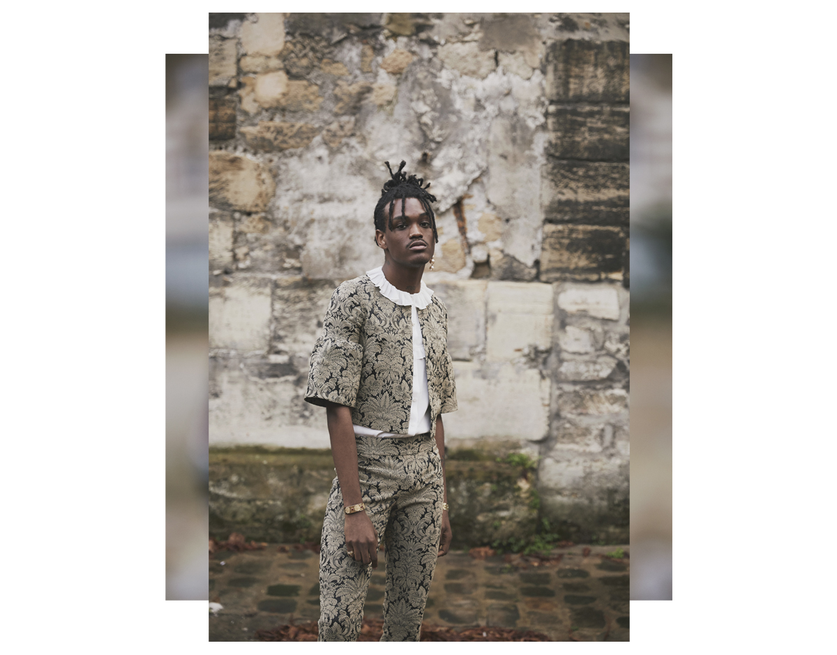 male model black male model fashion editorial yvens baroque
